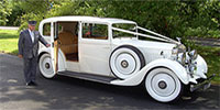 White 1938 Rolls Royce Phantom