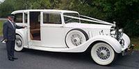 White Rolls Royce Phantom 111 Limousine